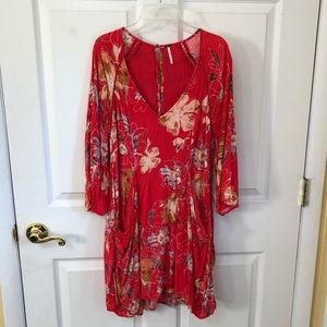Free People floral tunic, size 4